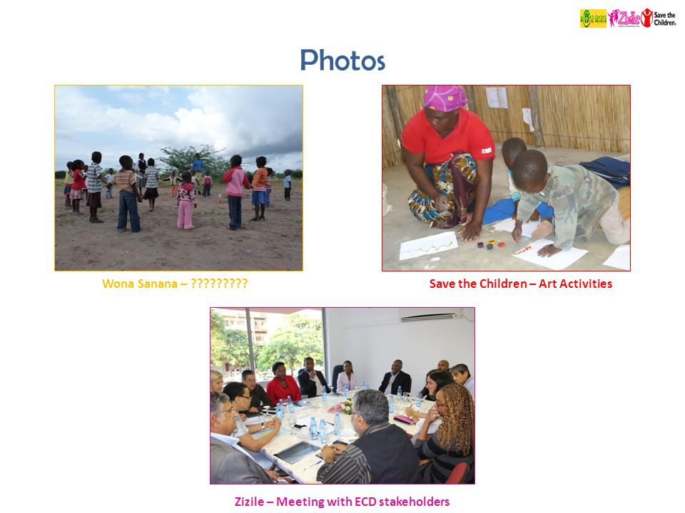 Photos Save the Children – Art Activities Zizile – Meeting with ECD stakeholders Wona Sanana – ?????????