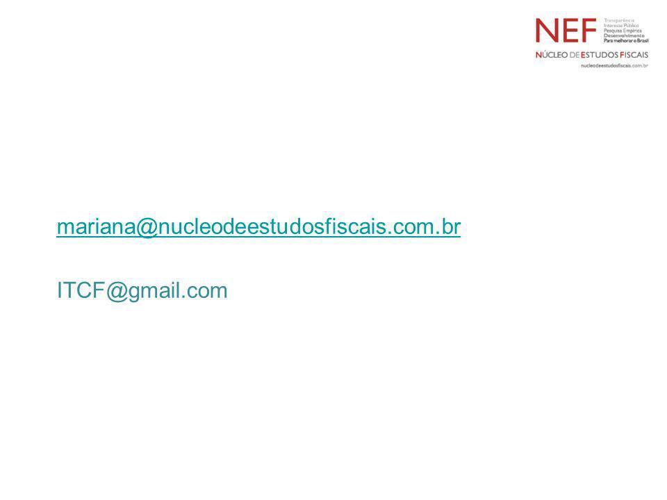 mariana@nucleodeestudosfiscais.com.br ITCF@gmail.com