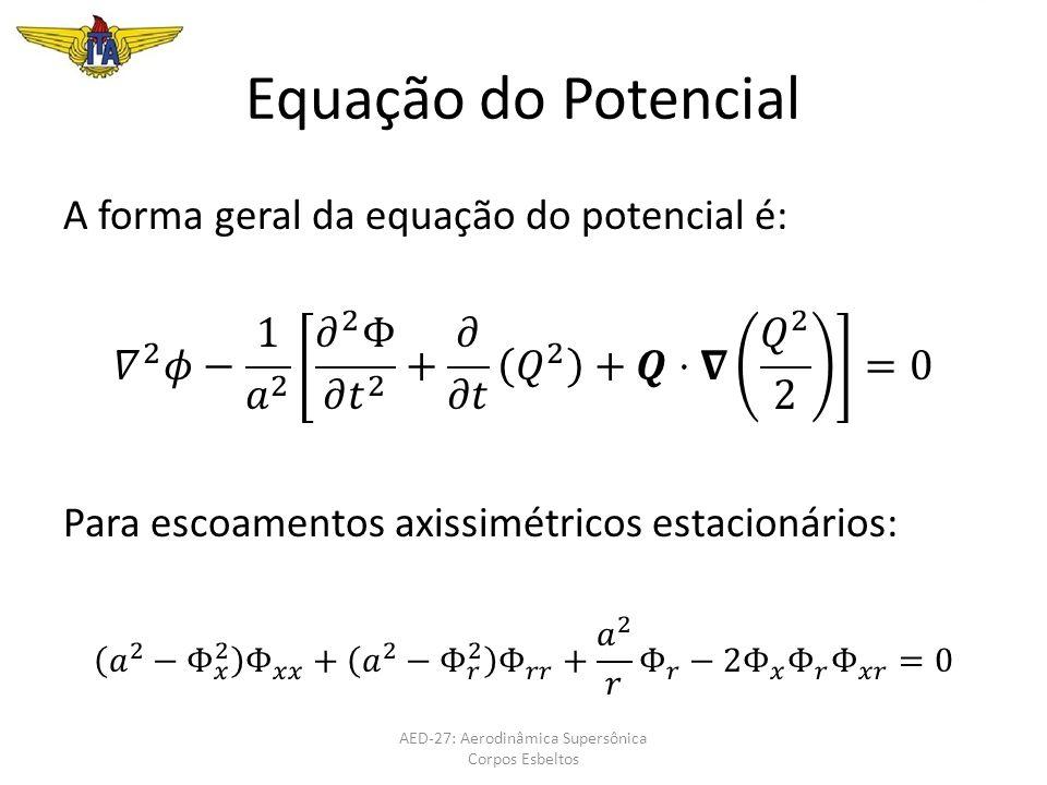 Equação do Potencial AED-27: Aerodinâmica Supersônica Corpos Esbeltos