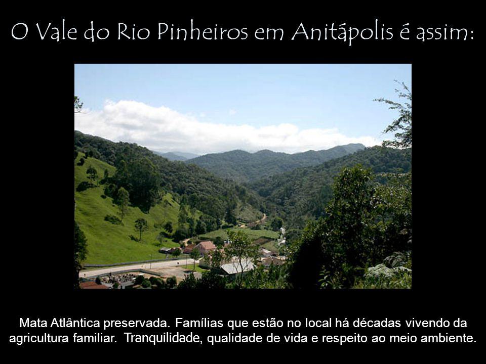 O Vale do Rio Pinheiros em Anitápolis é assim: Mata Atlântica preservada. Famílias que estão no local há décadas vivendo da agricultura familiar. Tran