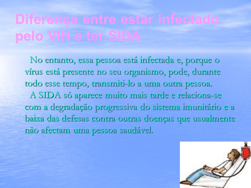 No entanto, essa pessoa está infectada e, porque o vírus está presente no seu organismo, pode, durante todo esse tempo, transmiti-lo a uma outra pesso