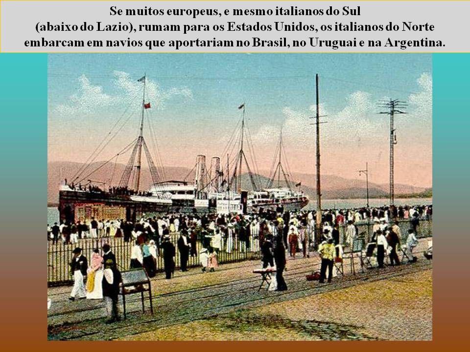 """""""A emigração, como já observava o pensador italiano Antonio Gramsci, representa um problema não resolvido na vida econômica e social da Itália, aprese"""