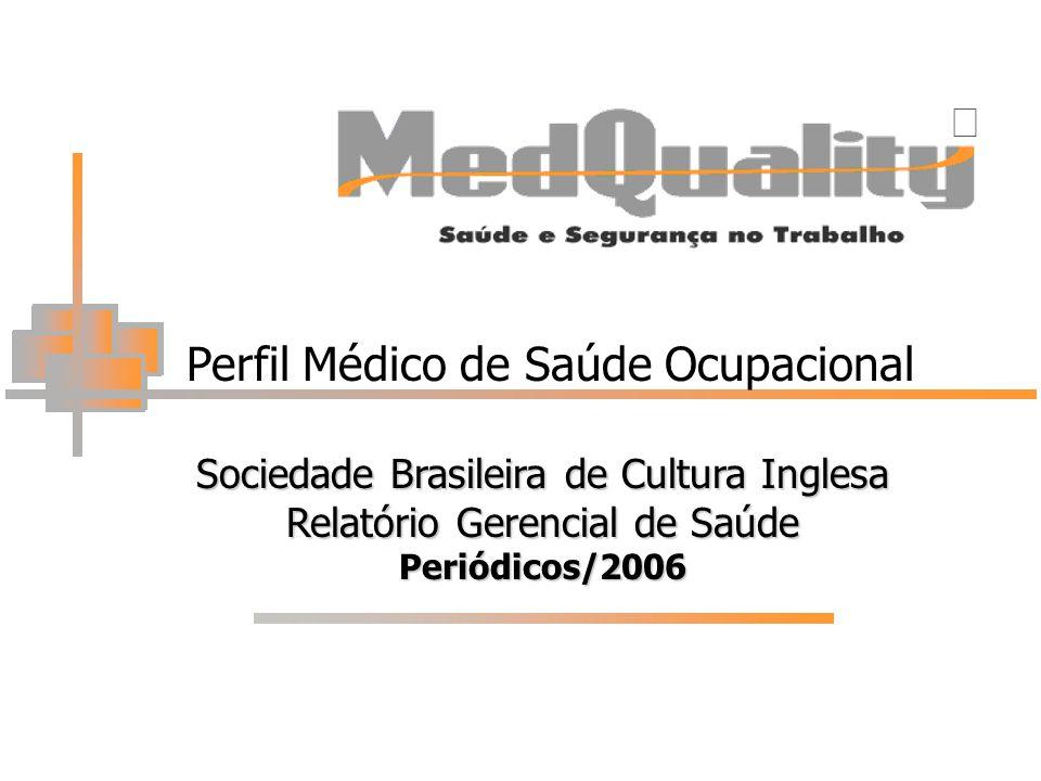 Perfil Médico de Saúde Ocupacional Sociedade Brasileira de Cultura Inglesa Relatório Gerencial de Saúde Periódicos/2006 