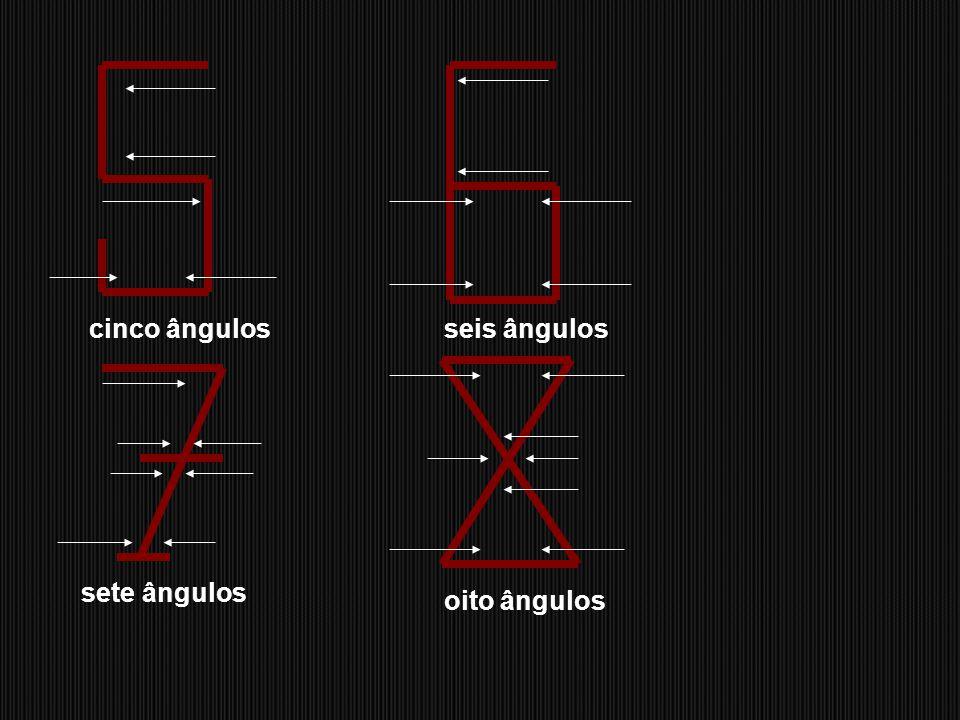um ângulodois ângulos três ângulos quatro ângulos