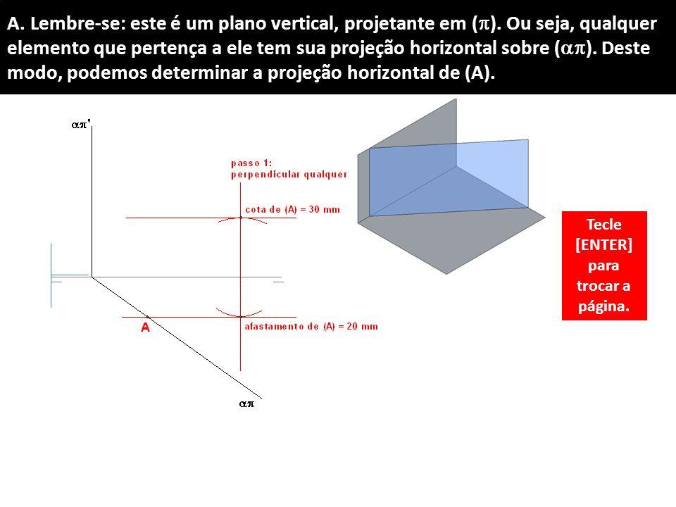 A.Lembre-se: este é um plano vertical, projetante em (  ).