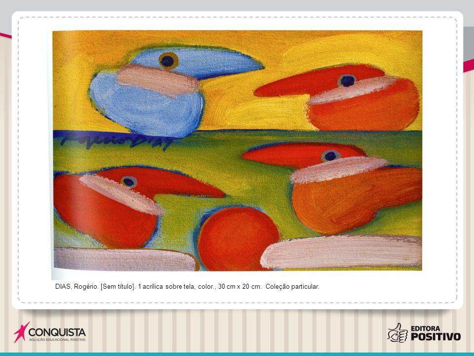 DIAS, Rogério.[Sem título]. 1986. 1 acrílica sobre tela, color., 14 cm x 18 cm.