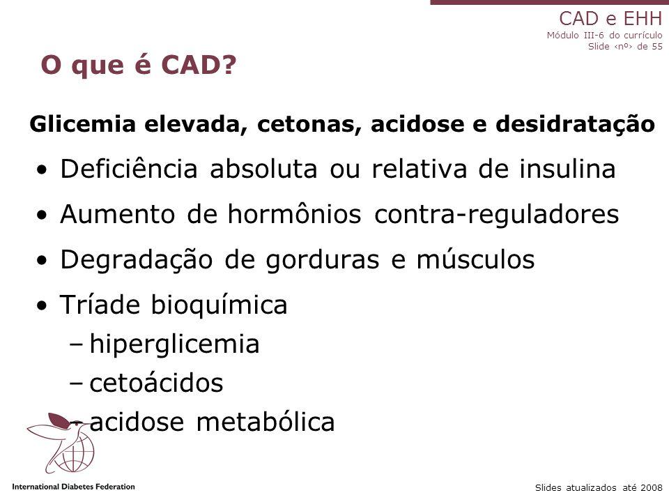 CAD e EHH Módulo III-6 do currículo Slide ‹nº› de 55 Slides atualizados até 2008 O que é CAD.
