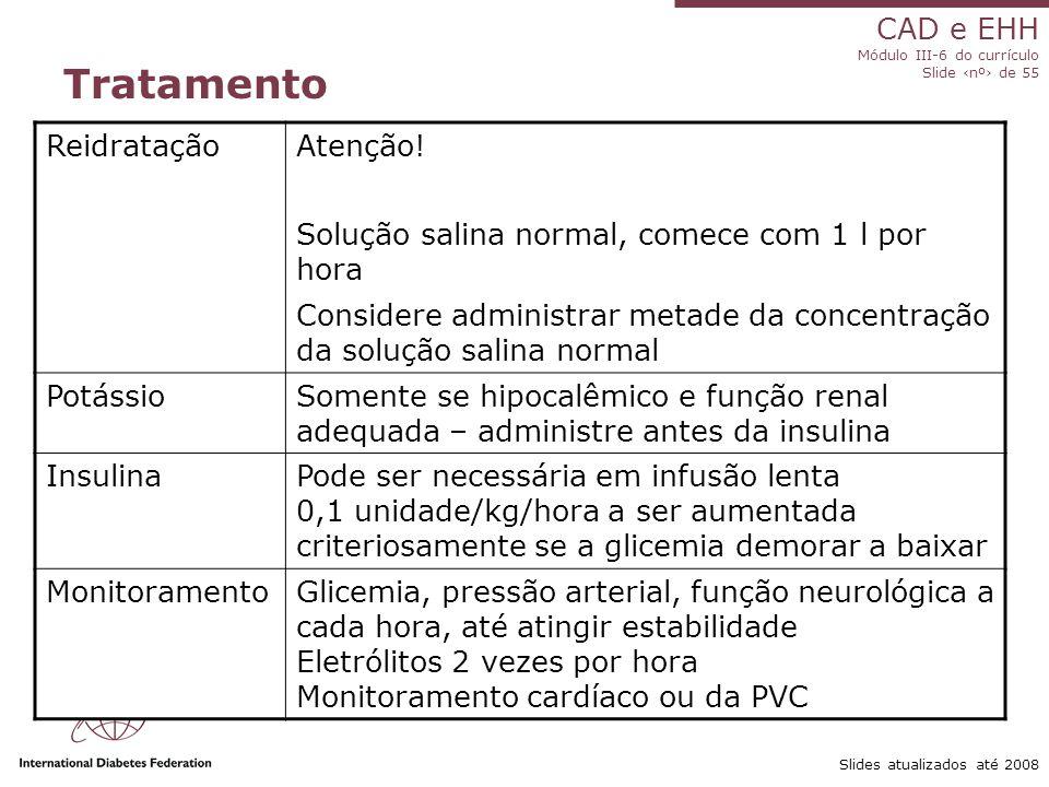 CAD e EHH Módulo III-6 do currículo Slide ‹nº› de 55 Slides atualizados até 2008 Tratamento ReidrataçãoAtenção.
