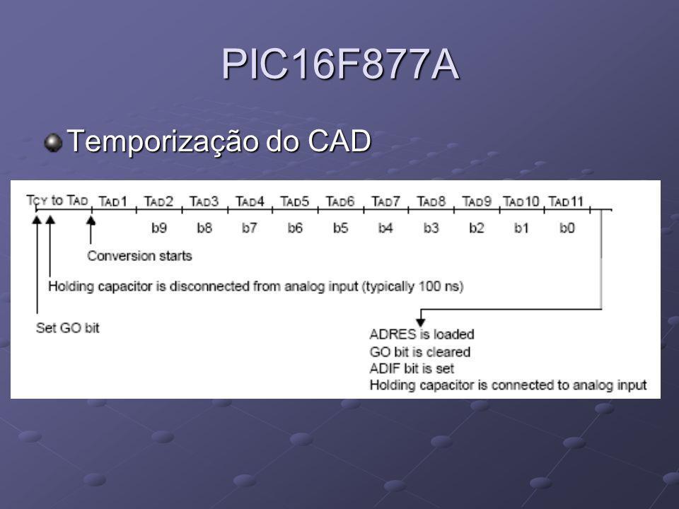 PIC16F877A Temporização do CAD