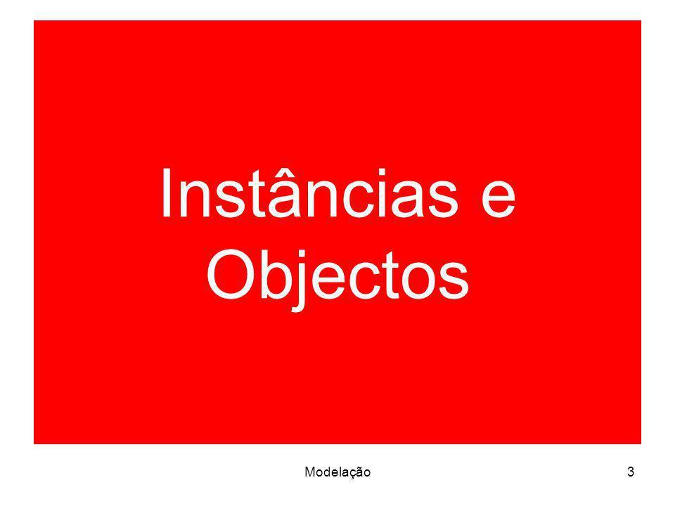 Modelação4 Instâncias Uma instância é uma manifestação concreta de um conceito Uma instância tem um estado, que pode ser alterado por operações Exemplos: –uma instância de uma classe é um objecto –uma instância de uma associação é uma ligação (link) –uma instância de um nó é um computador em concreto –uma instância de um caso de uso (use case) é um cenário