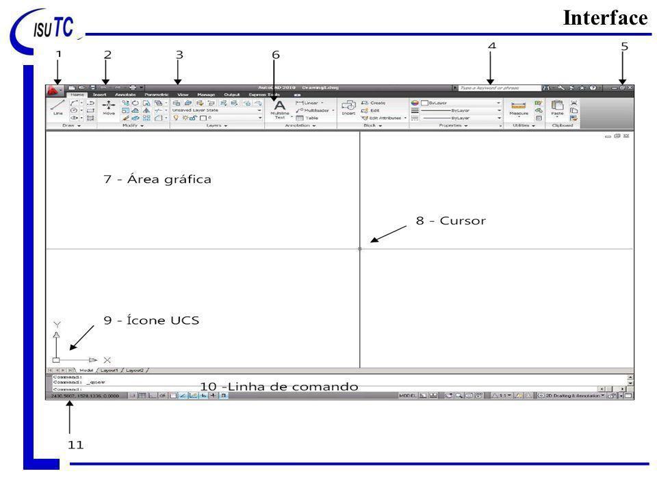 Uma vez aberto do arquivo padrão de trabalho, existem algumas áreas/zonas que devemos destacar Interface