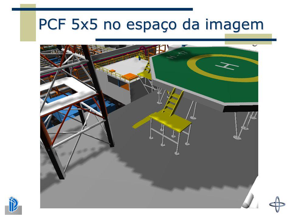 PCF 5x5 no espaço da imagem