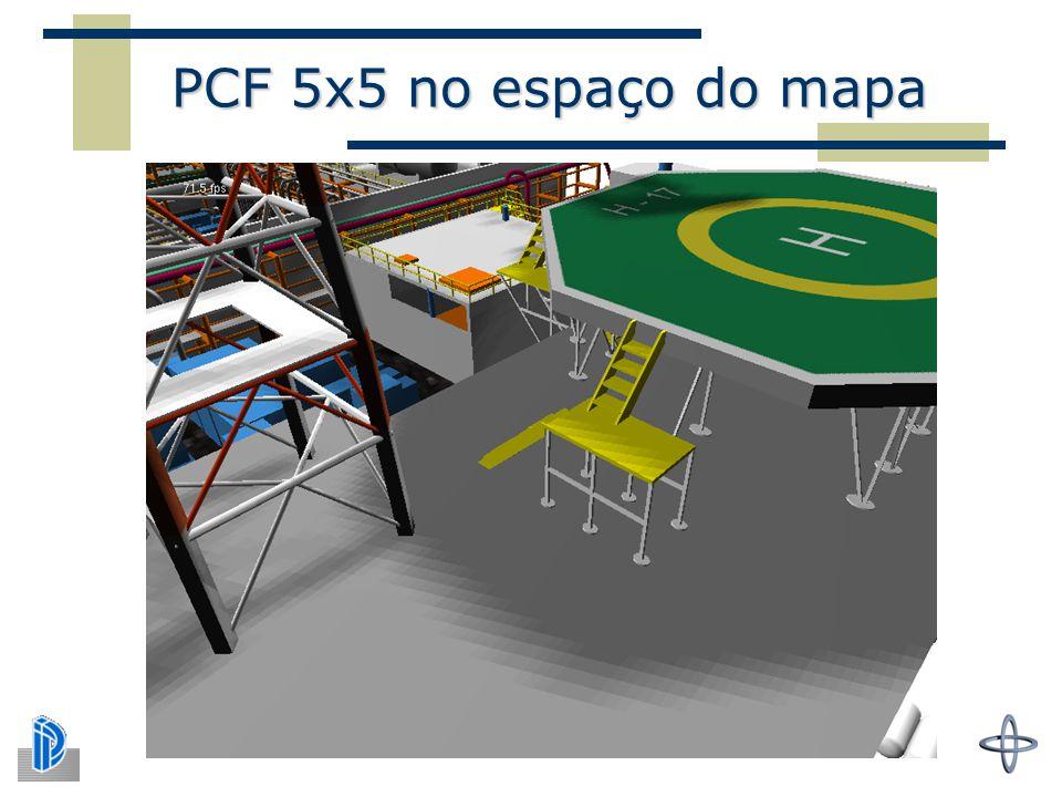 PCF 5x5 no espaço do mapa