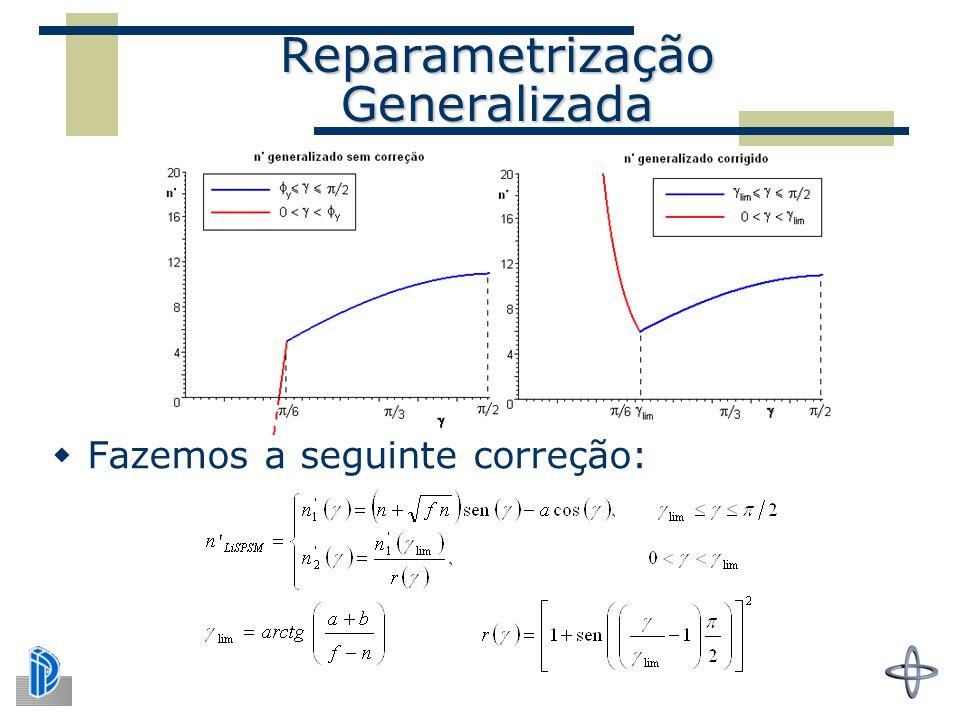 Reparametrização Generalizada  Fazemos a seguinte correção: