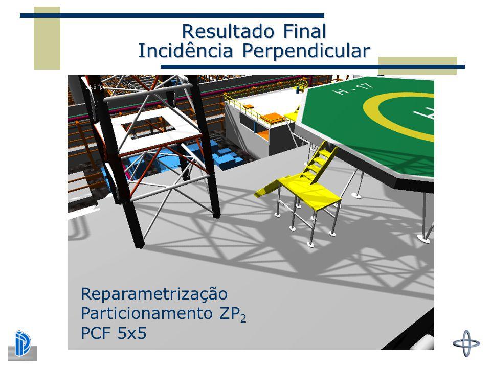Resultado Final Incidência Perpendicular Reparametrização Particionamento ZP 2 PCF 5x5