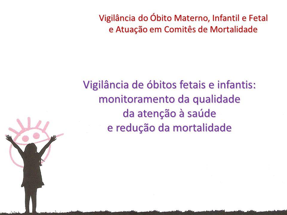 Vigilância de óbitos fetais e infantis: monitoramento da qualidade da atenção à saúde e redução da mortalidade Vigilância do Óbito Materno, Infantil e Fetal e Atuação em Comitês de Mortalidade