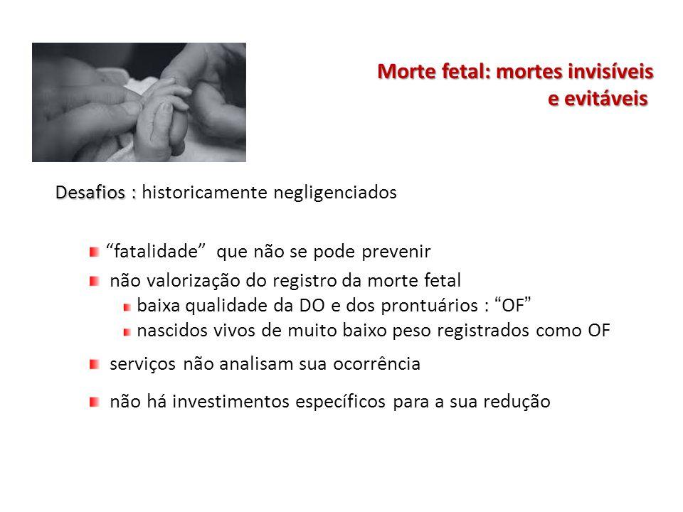 """Desafios : Desafios : historicamente negligenciados """"fatalidade"""" que não se pode prevenir não valorização do registro da morte fetal baixa qualidade d"""