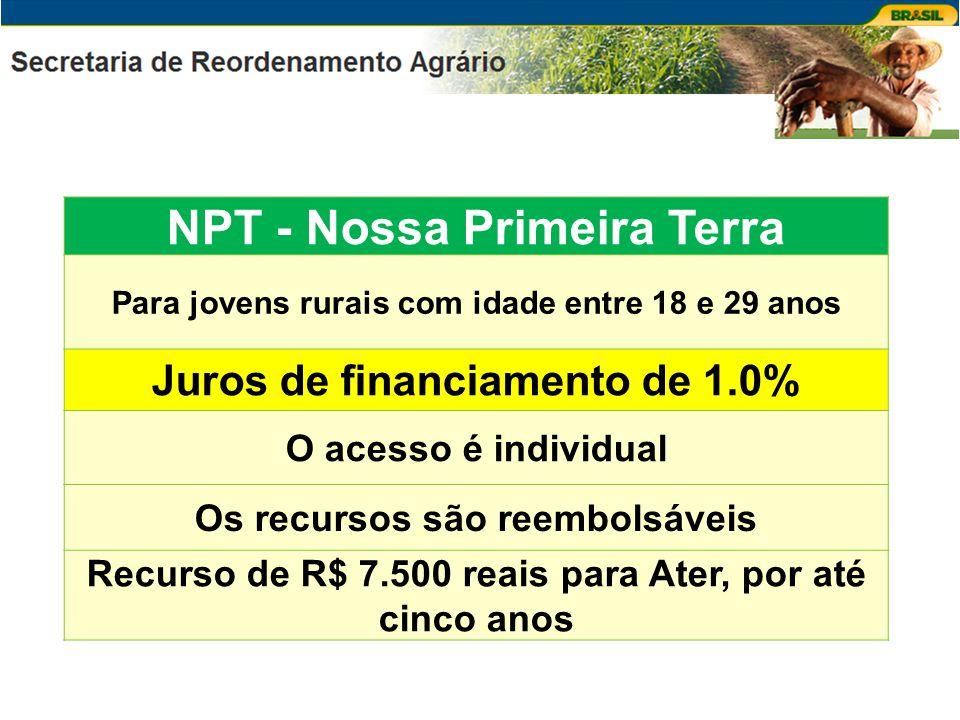 CAF - Consolidação da Agricultura Familiar Para agricultores que não se enquadram nas demais linhas Juros de financiamento de 2.0% O acesso e o financiamento são individuais Os recursos são reembolsáveis Recurso de R$ 7.500 reais para Ater, por até cinco anos