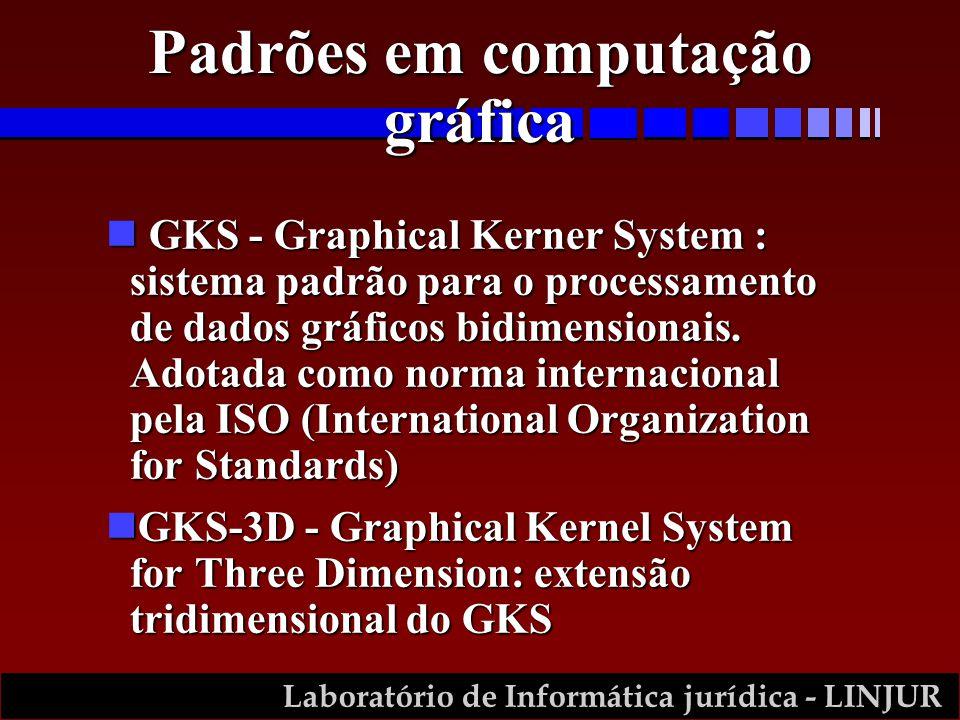 Laboratório de Informática jurídica - LINJUR n GKS - Graphical Kerner System : sistema padrão para o processamento de dados gráficos bidimensionais.