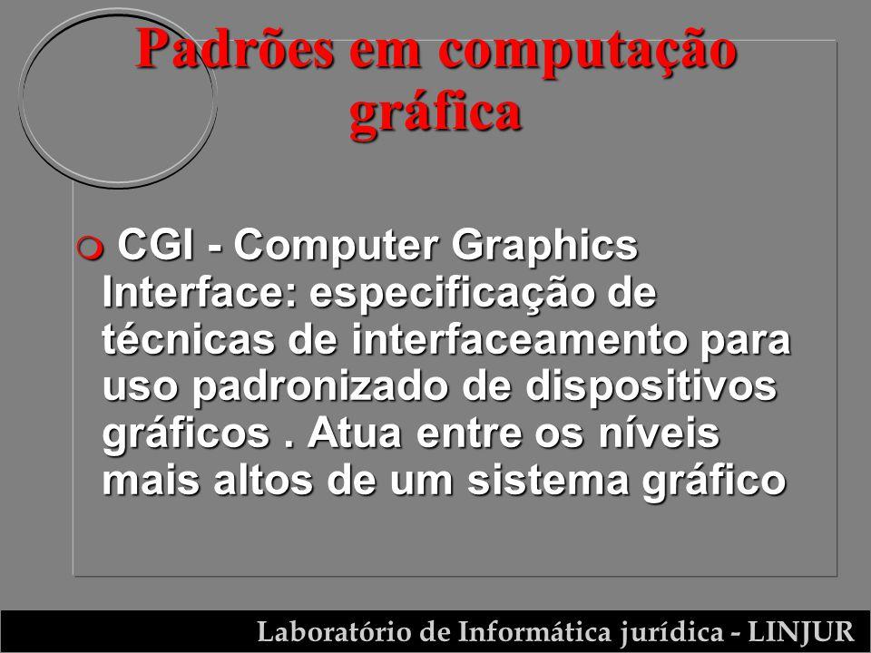 Laboratório de Informática jurídica - LINJUR m CGI - Computer Graphics Interface: especificação de técnicas de interfaceamento para uso padronizado de