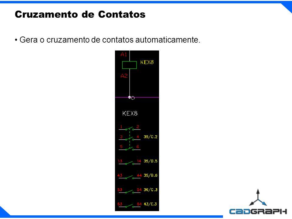 Gera o cruzamento de contatos automaticamente. Cruzamento de Contatos