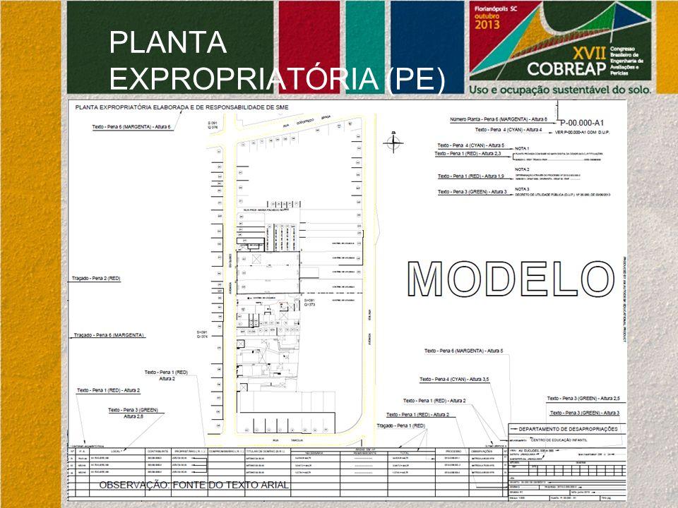 PLANTA EXPROPRIATÓRIA (PE)