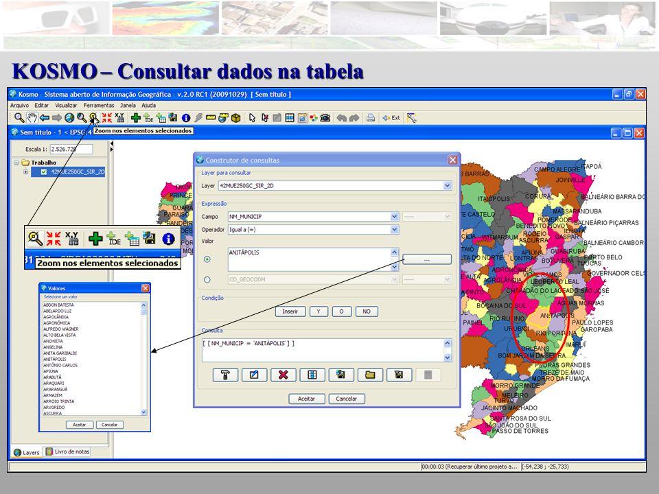 KOSMO – Consultar dados na tabela