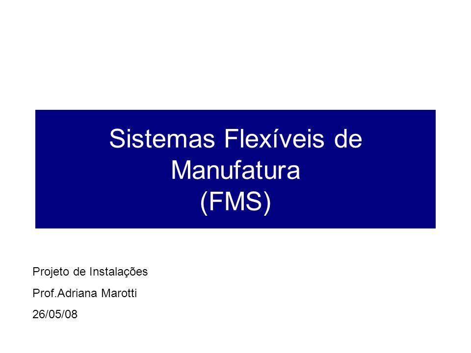 Sistemas Flexíveis de Manufatura (FMS) Projeto de Instalações Prof.Adriana Marotti 26/05/08