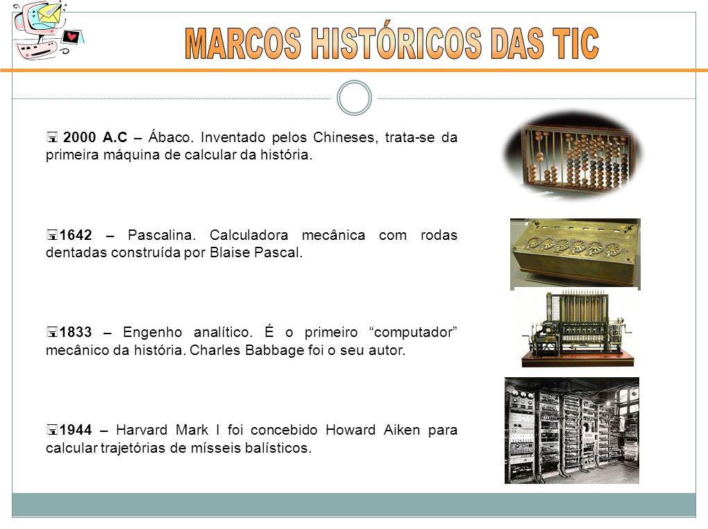  2000 A.C – Ábaco.Inventado pelos Chineses, trata-se da primeira máquina de calcular da história.