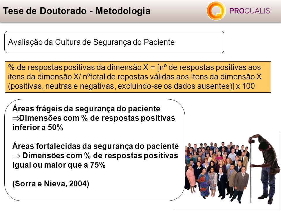 % de respostas positivas da dimensão X = [nº de respostas positivas aos itens da dimensão X/ nºtotal de repostas válidas aos itens da dimensão X (posi