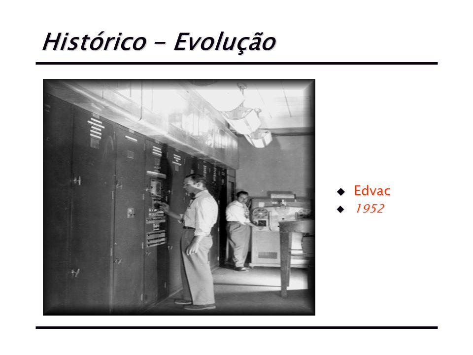 Histórico - Evolução u Edvac u 1952