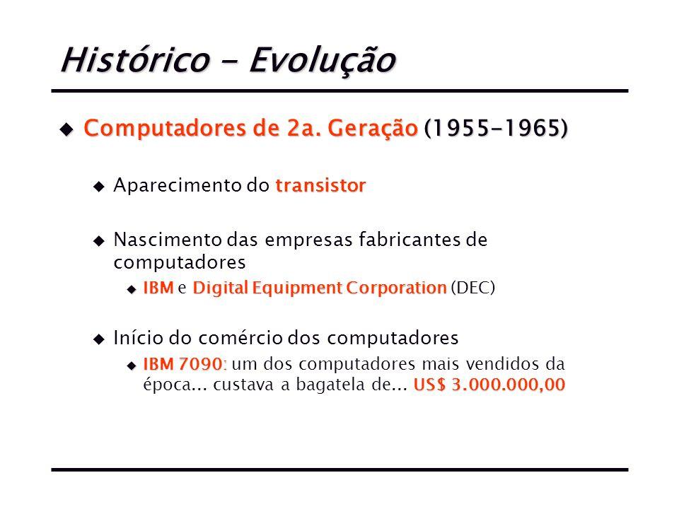Histórico - Evolução u Computadores de 2a.
