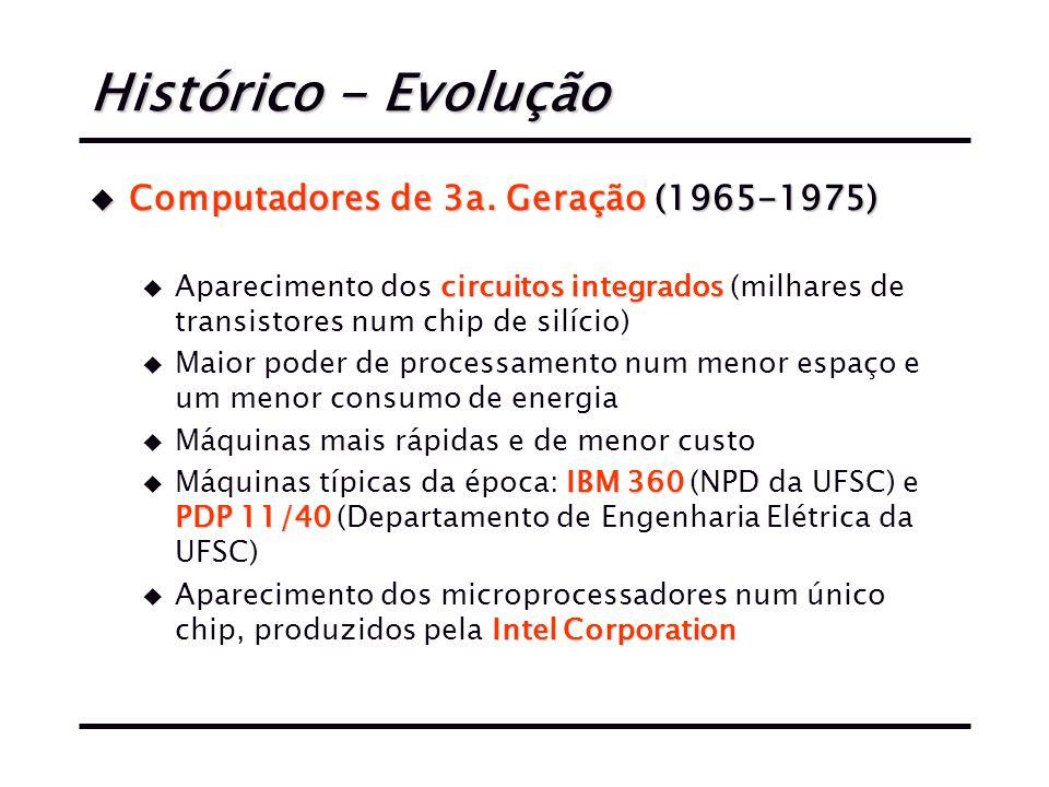 Histórico - Evolução u Computadores de 3a.