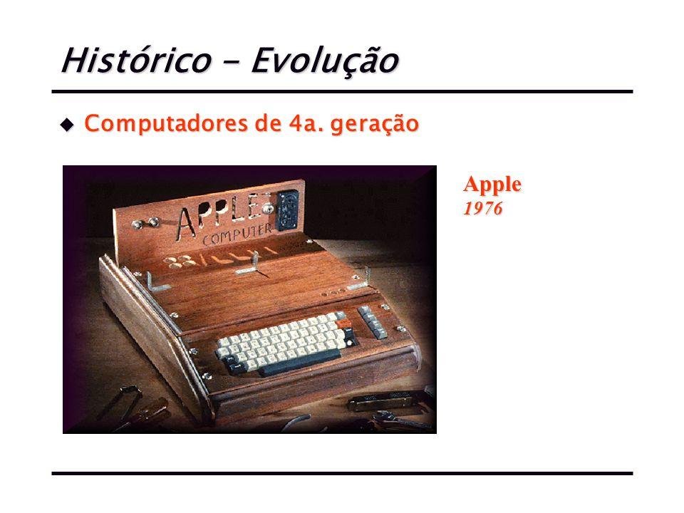 Histórico - Evolução u Computadores de 4a. geração Apple1976