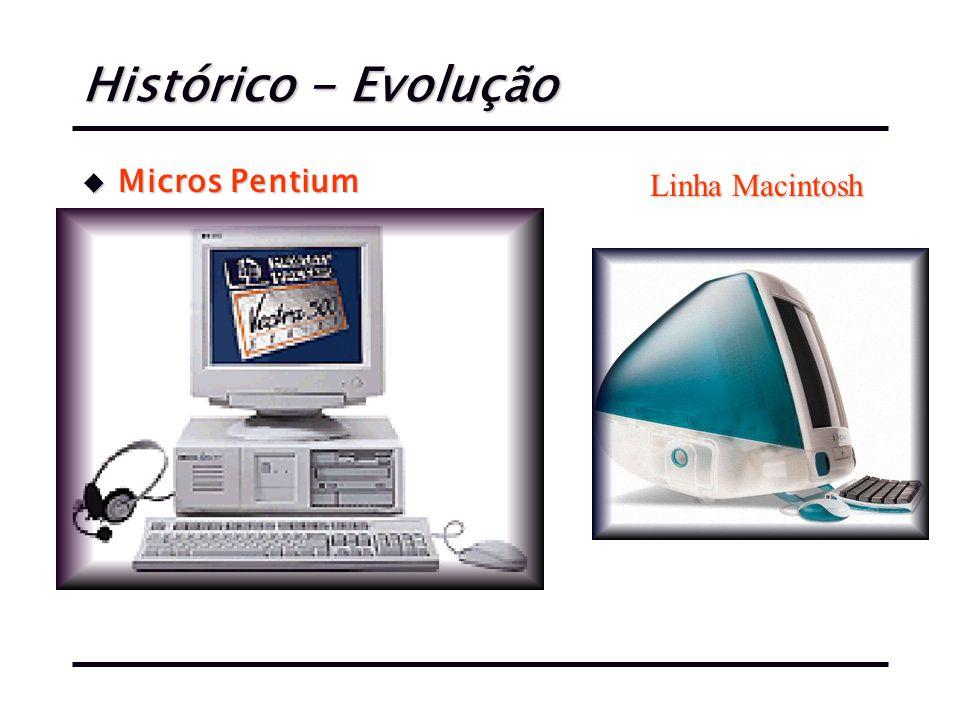 Histórico - Evolução u Micros Pentium Linha Macintosh