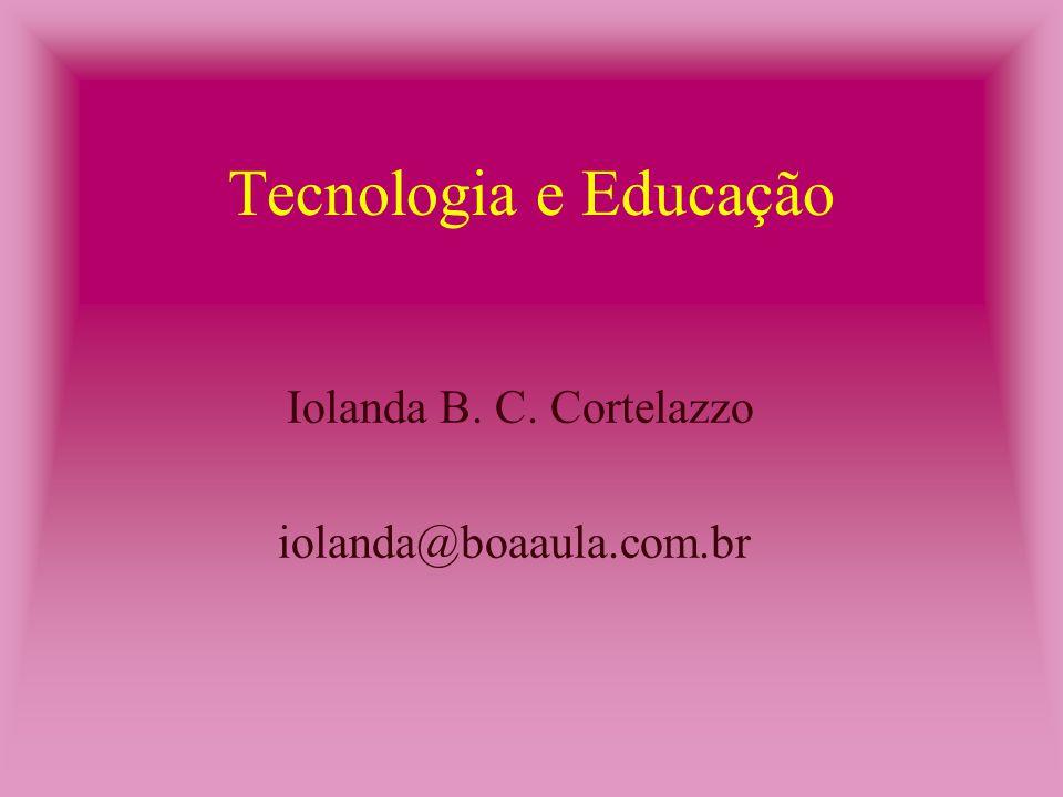 Conclusão Se essas ferramentas forem usadas para o professores e/ou alunos se comunicarem no seu próprio ambiente ou através da rede de computadores, local ou a distância, deixam de ser simples ferramentas para serem meios de comunicação.