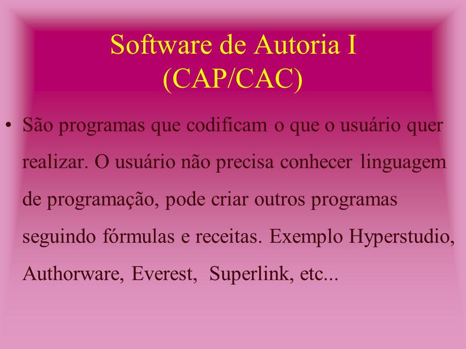 Utilitário Simples (CAP/CAC) São programas que executam tarefas simples e limitam-se a fazer o que foi destinado a fazer.