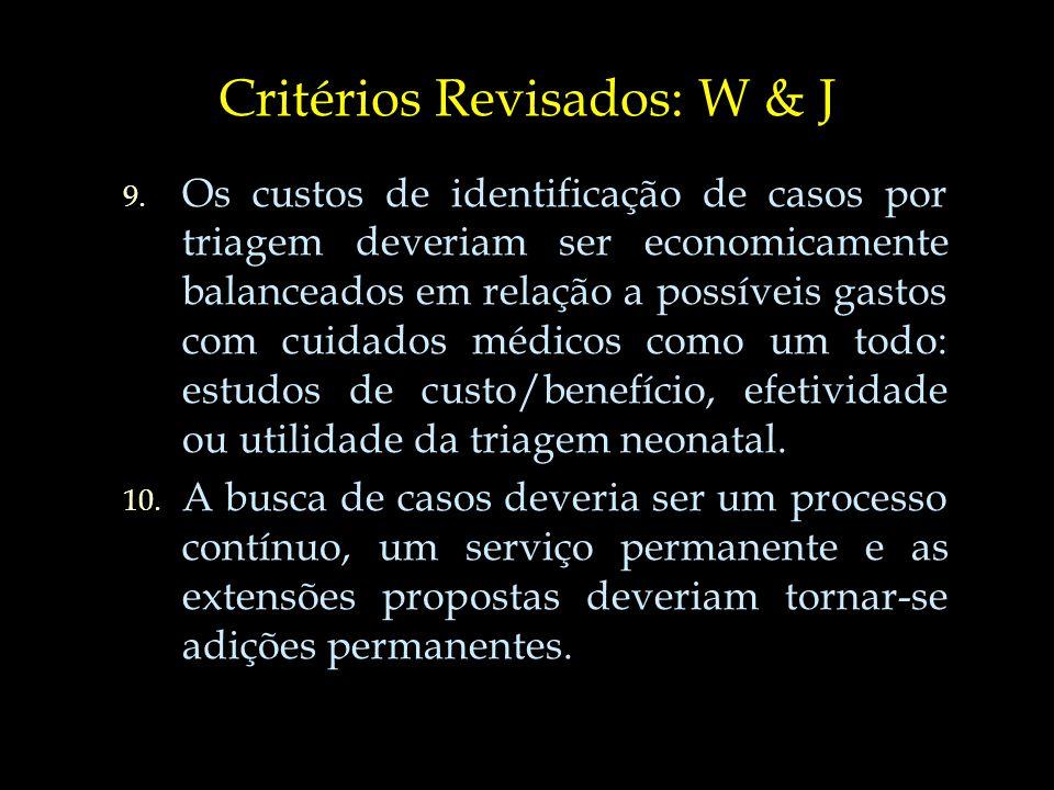 Critérios Revisados: W & J 9.9.