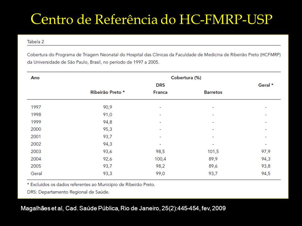 Ce ntro de Referência do HC-FMRP-USP Magalhães et al, Cad.