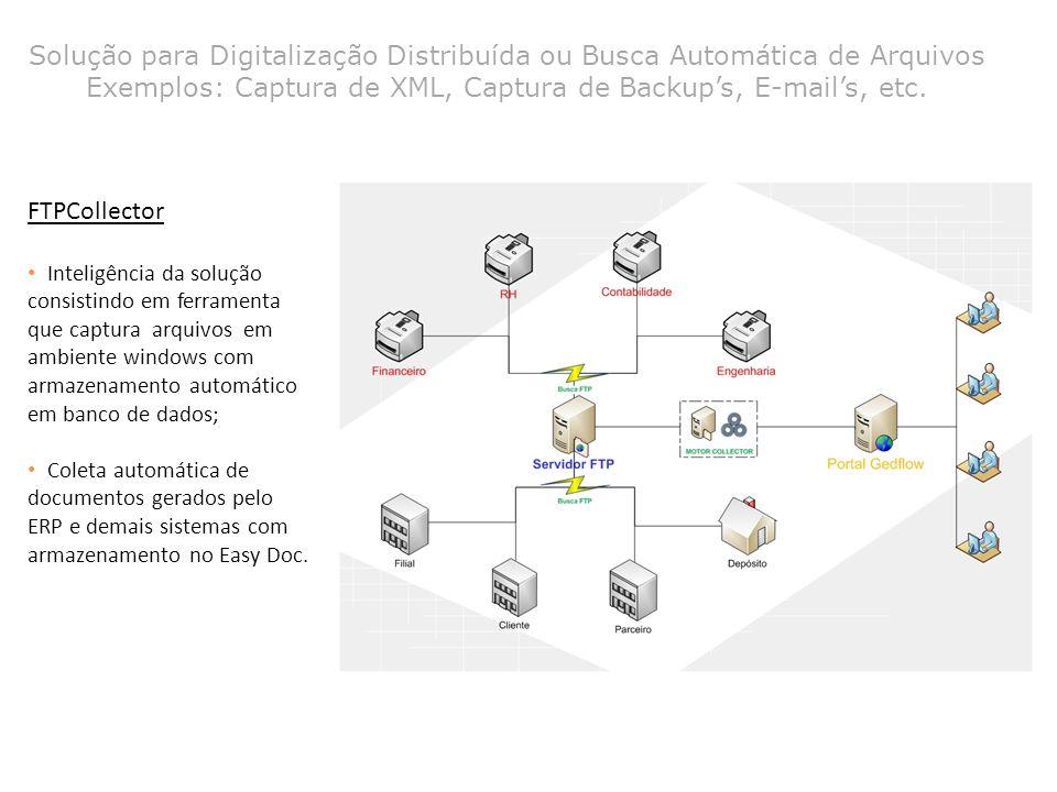 FTPCollector Inteligência da solução consistindo em ferramenta que captura arquivos em ambiente windows com armazenamento automático em banco de dados