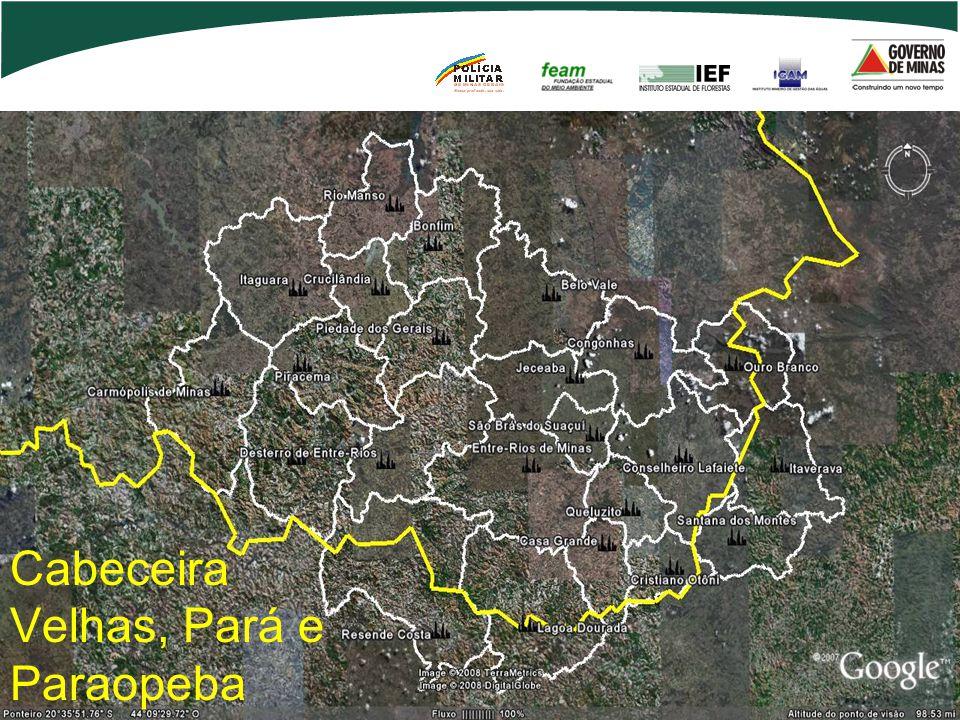 Cabeceira Velhas, Pará e Paraopeba