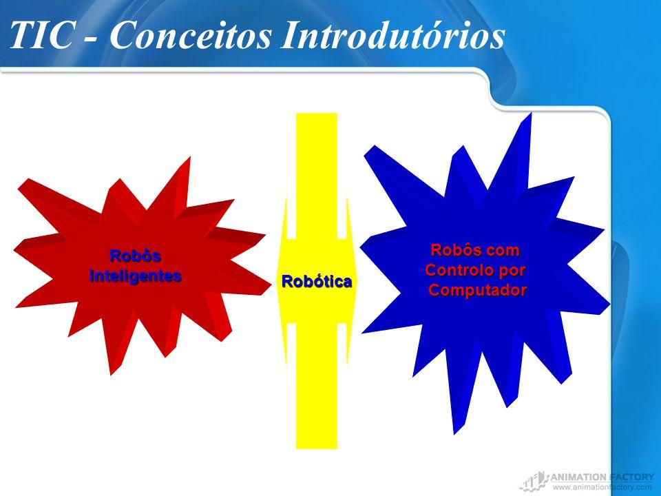 TIC - Conceitos IntrodutóriosRobôsInteligentes São manipulados por sistemas multifuncionais e controlados por computador.
