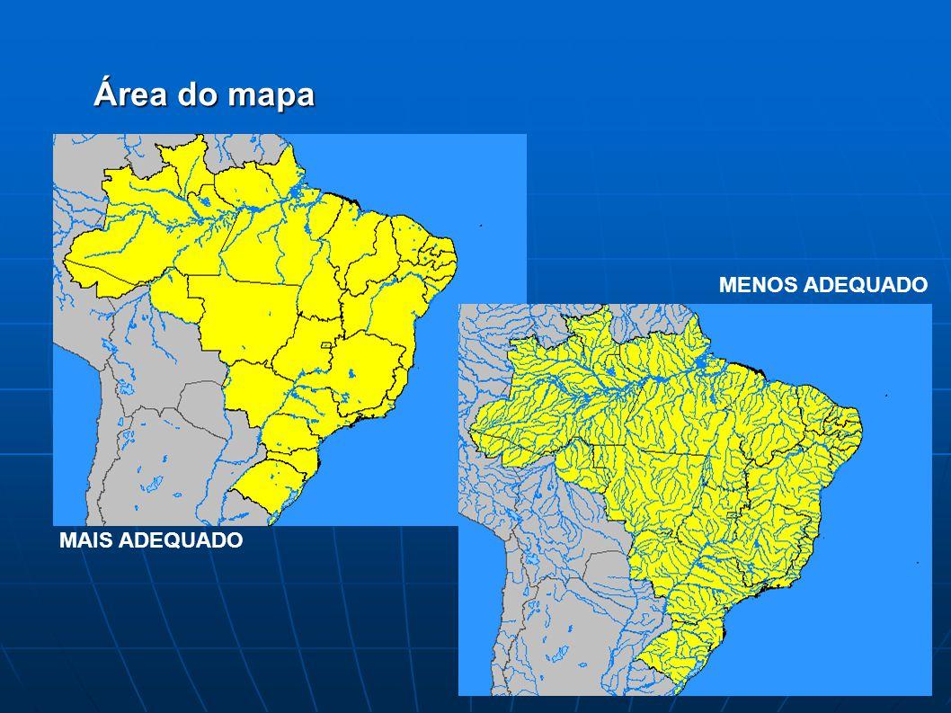 Área do mapa MAIS ADEQUADO MENOS ADEQUADO