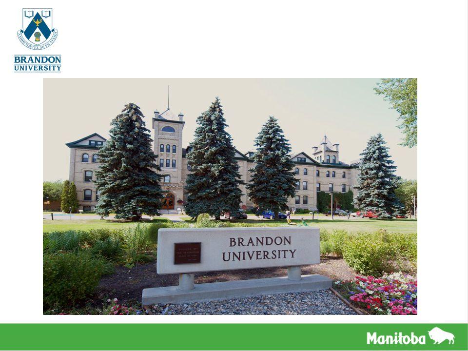 VISÃO GERAL Localizada em Brandon, segunda maior cidade de Manitoba BU é um campus rural, com sensação urbana Mais de 3.000 alunos matriculados – divididos em períodos integrais e meio períodos Aproximadamente 5% destes são alunos internacionais vindos de mais de 40 países BU é conhecida por sua dedicação para artes e ciências, oferecendo graduação e pós- graduação através de seus Departamentos de Artes, Educação, Estudos da Saúde, Ciência e a internacionalmente aclamada Escola de Música O Programa de Inglês para Fins Acadêmicos da BU fornece a oportunidade de ingressar na universidade após o término do mesmo O Escritório de Atividades Internacionais da BU ajuda os estudantes com acomodações e serviços estudantis A BU tem opções para hospedagem em casas de família e três residências dentro do campus