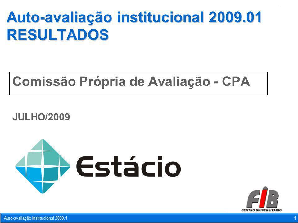 Auto-avaliação Institucional 2009.11 Auto-avaliação institucional 2009.01 RESULTADOS Comissão Própria de Avaliação - CPA JULHO/2009