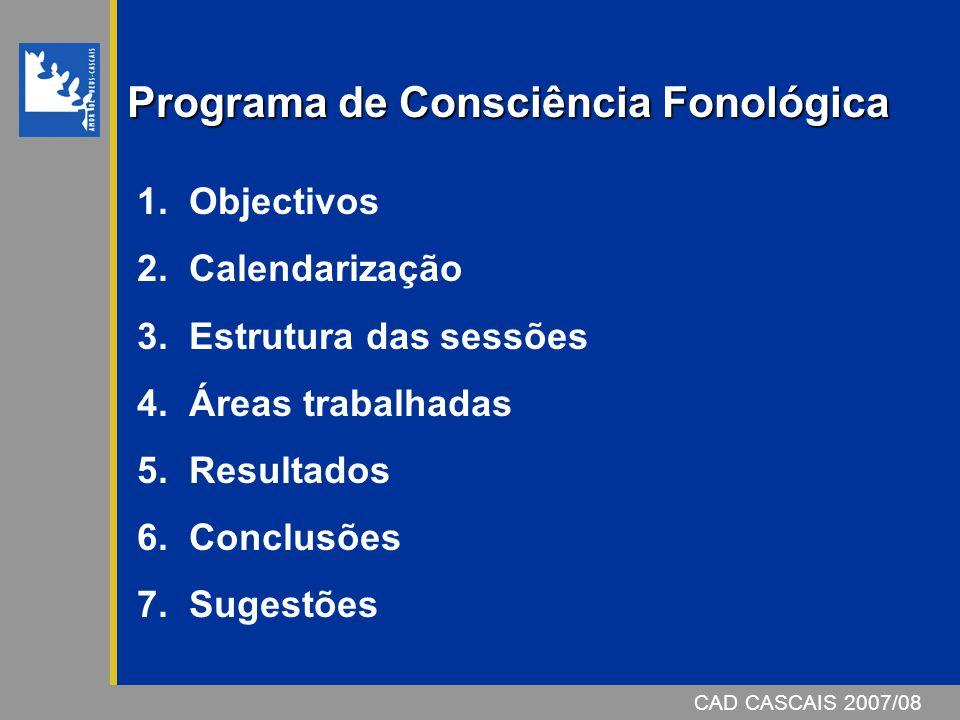 Programa de Consciência Fonológica 1.Objectivos 2.