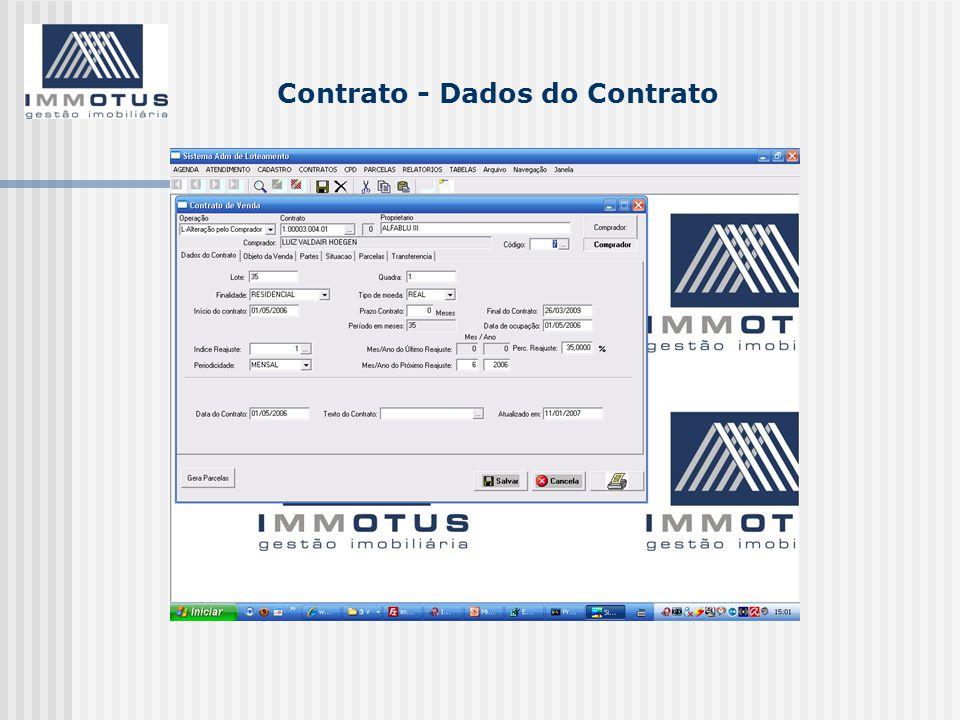 Contrato - Dados do Contrato