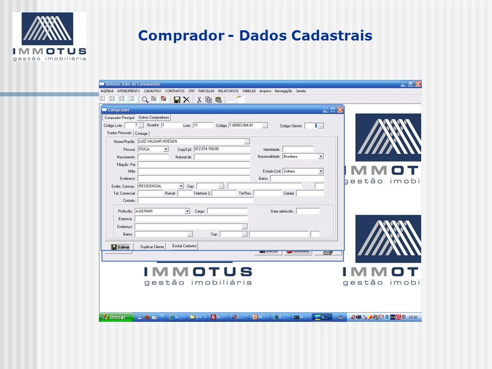Comprador - Dados Cadastrais