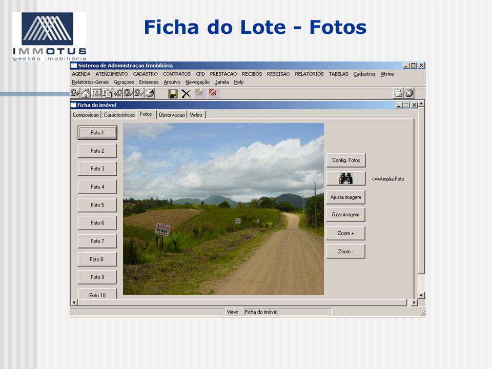 Ficha do Lote - Fotos
