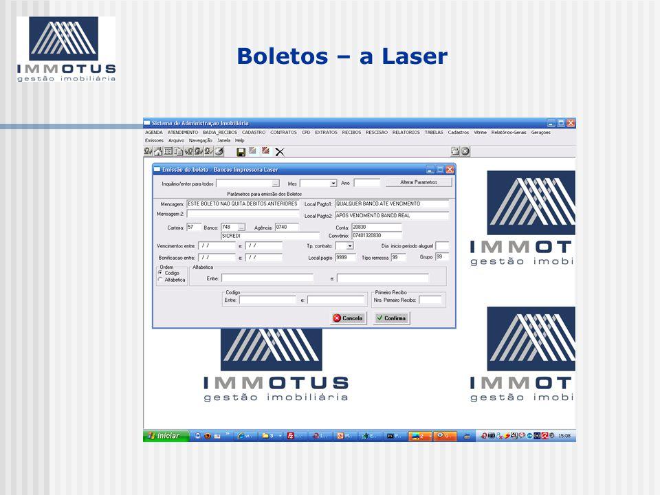 Boletos – a Laser